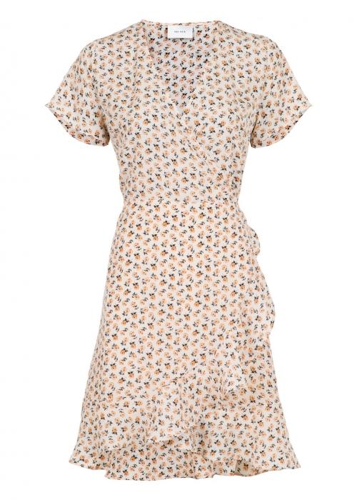 Malta narrow flower dress BEIGE