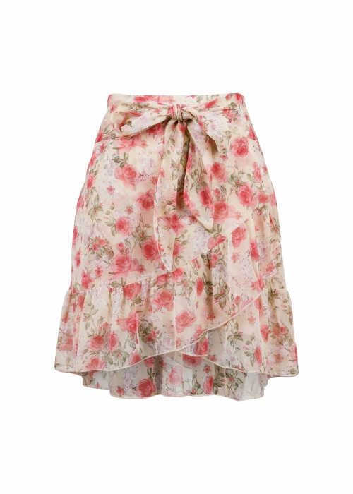 Bella dusty flower skirt SAND