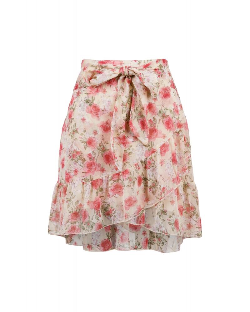 Bella dusty flower skirt SAND