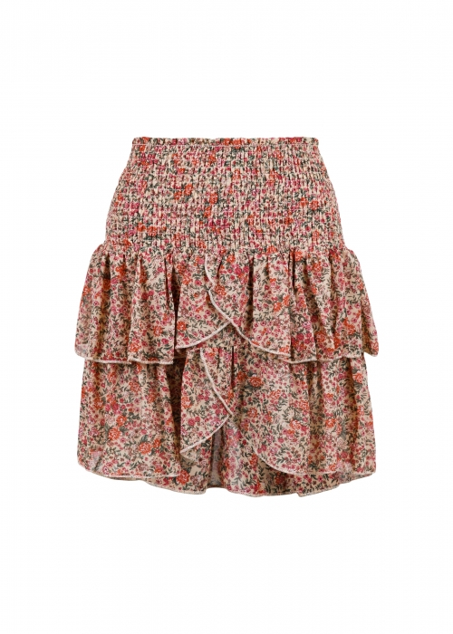 Carin dynamic flower skirt BEIGE