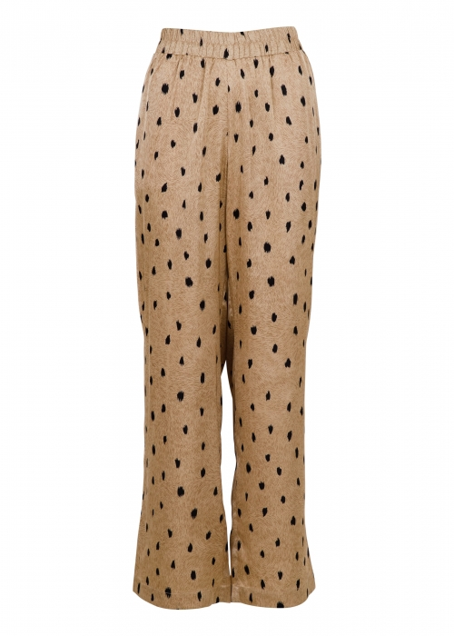 Hiba feather pants CAMEL