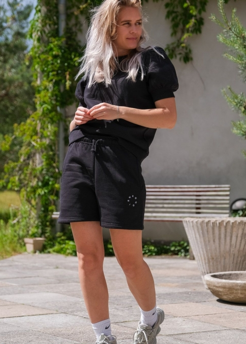 Enzo sweat shorts BLACK (Preorder Levering midt august)