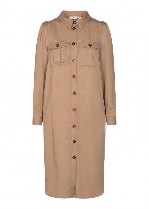 Uni shirt dress KHAKI