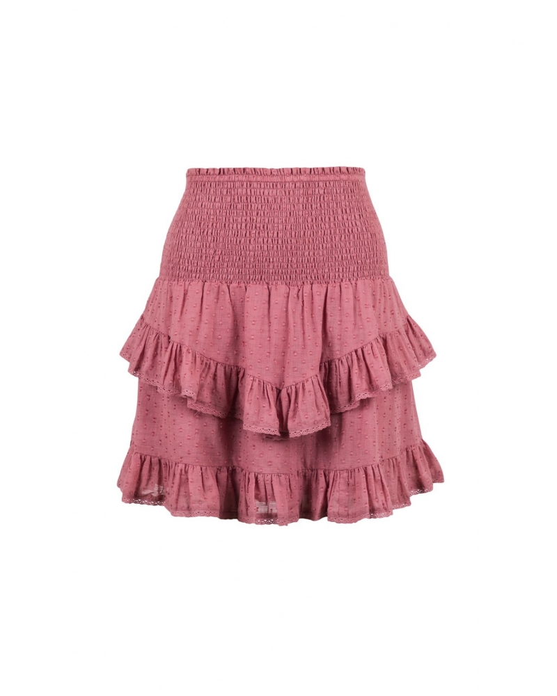 Line dobby skirt DUSTY ROSE