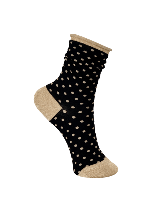 Leigh dotted sock BLACK