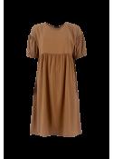 Kenza cupro dress CAMEL