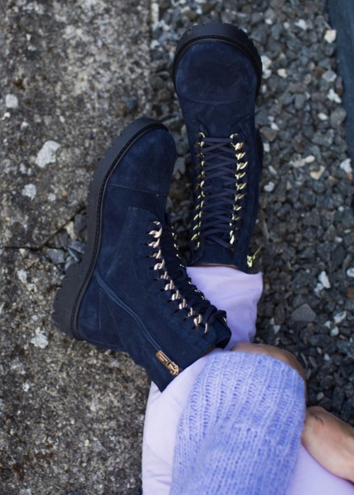 Ally suede boot NAVY