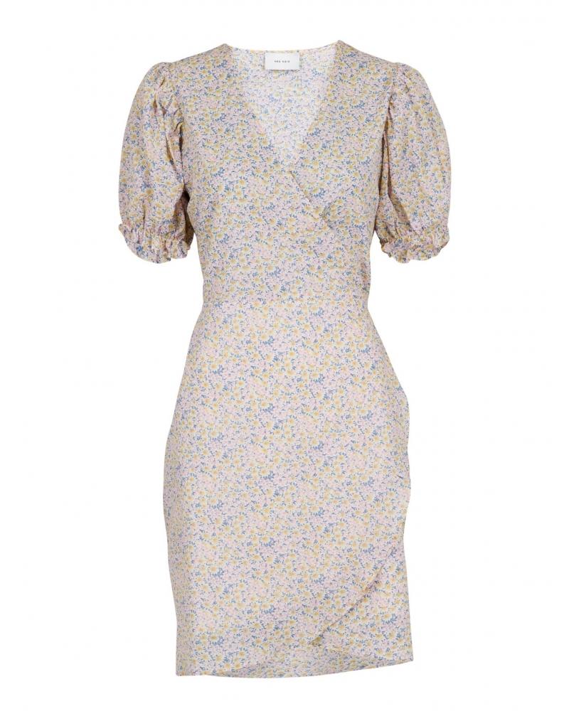 Spang soft flower dress LIGHT BLUE