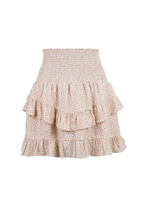 Line mini tapestry skirt CREME