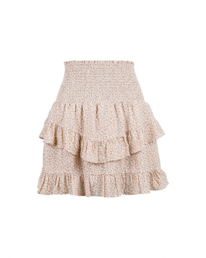 Line mini tapestry skirt CREME