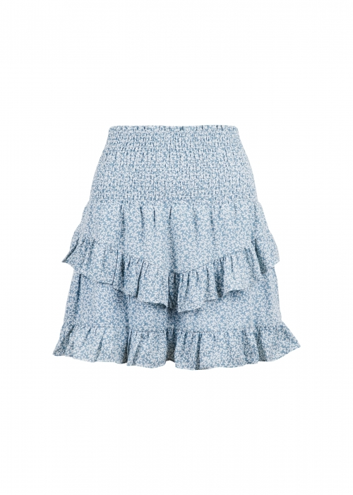 Line mini tapestry skirt LIGHT BLUE
