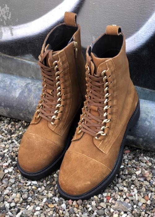 Ally suede boot COGNAC