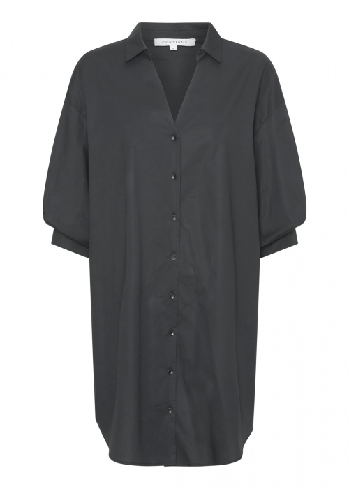 Carrie shirt dress BLACK