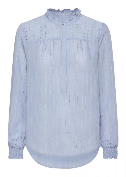 Asta jacquard stripe blouse LIGHT BLUE