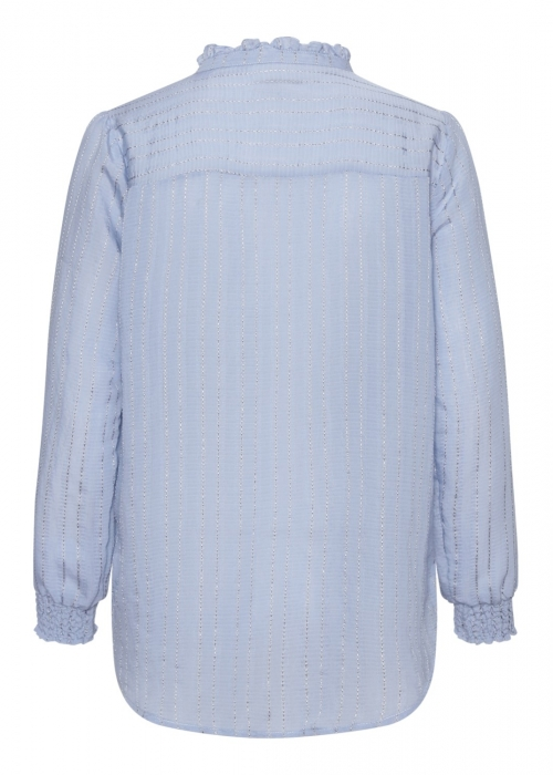 Asta jacquard stripe blouse LIGHT BLUE