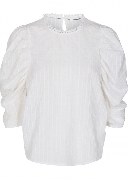 Vigga puff blouse WHITE