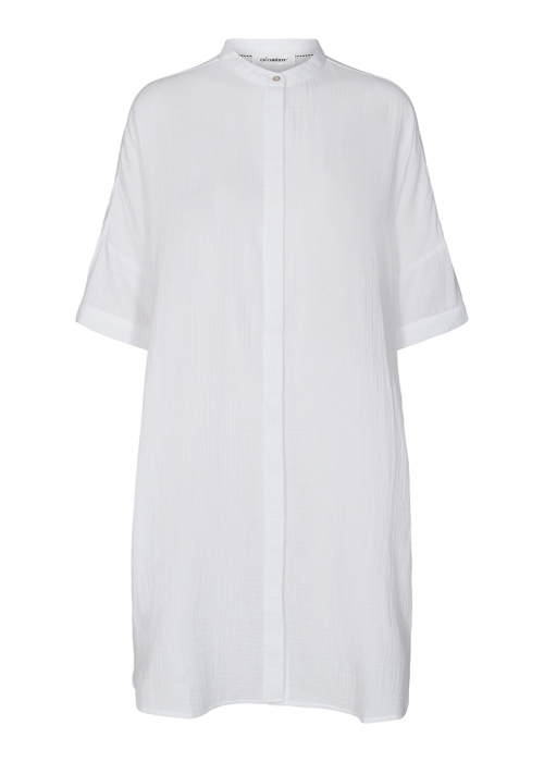 Crepe tunic shirt WHITE