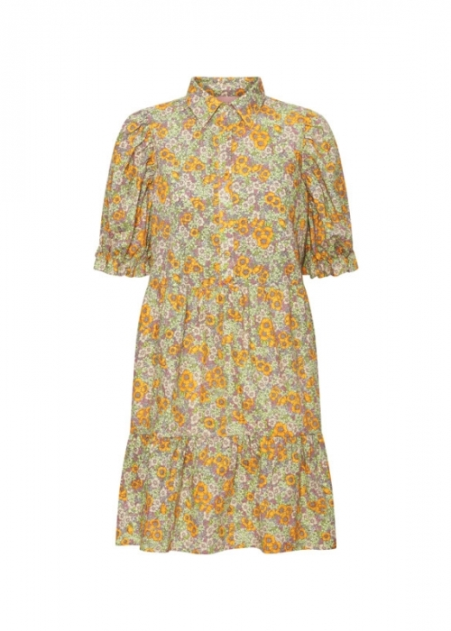 Caroline dress YELLOW FLORAL
