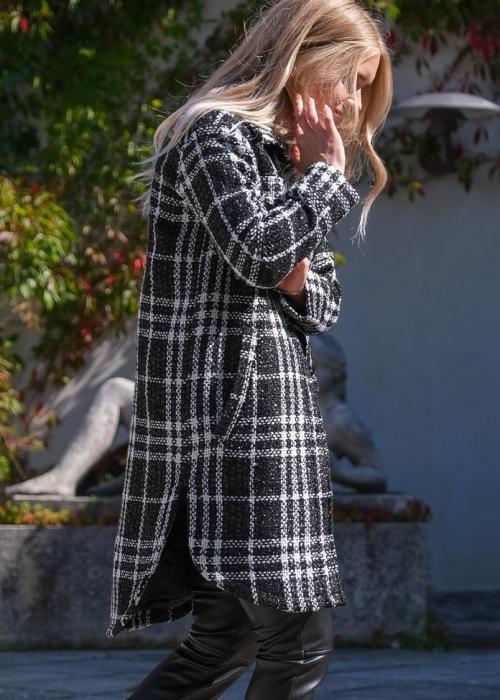 Marco glam coat BLACK
