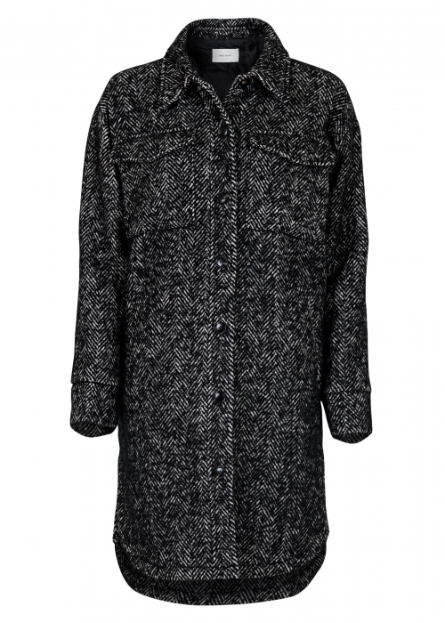 Marco herringbone coat BLACK