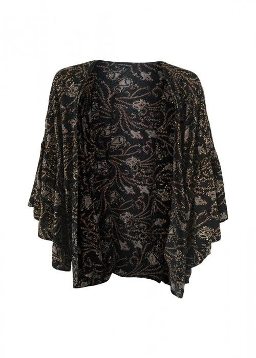 Luna boho sleeve kimono COCO BLACK