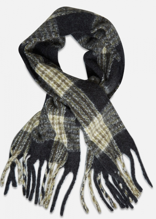 Noela scarf BLACK/G LEAF CHECK