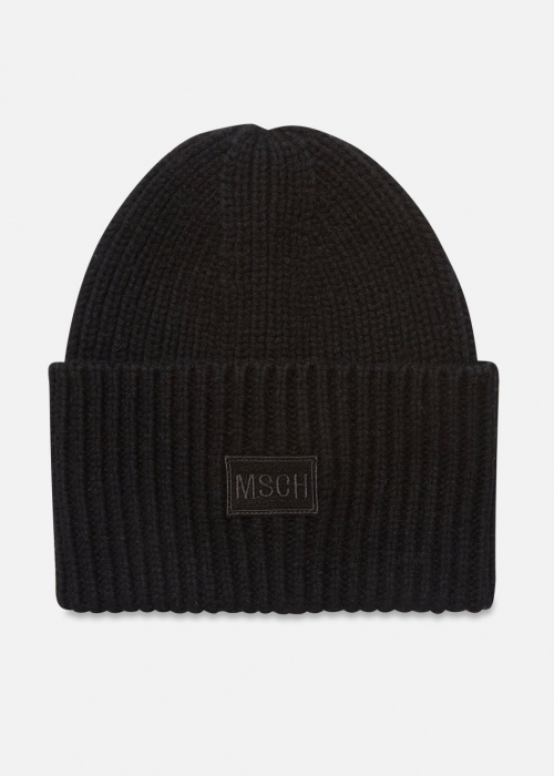 Kara badge beanie BLACK