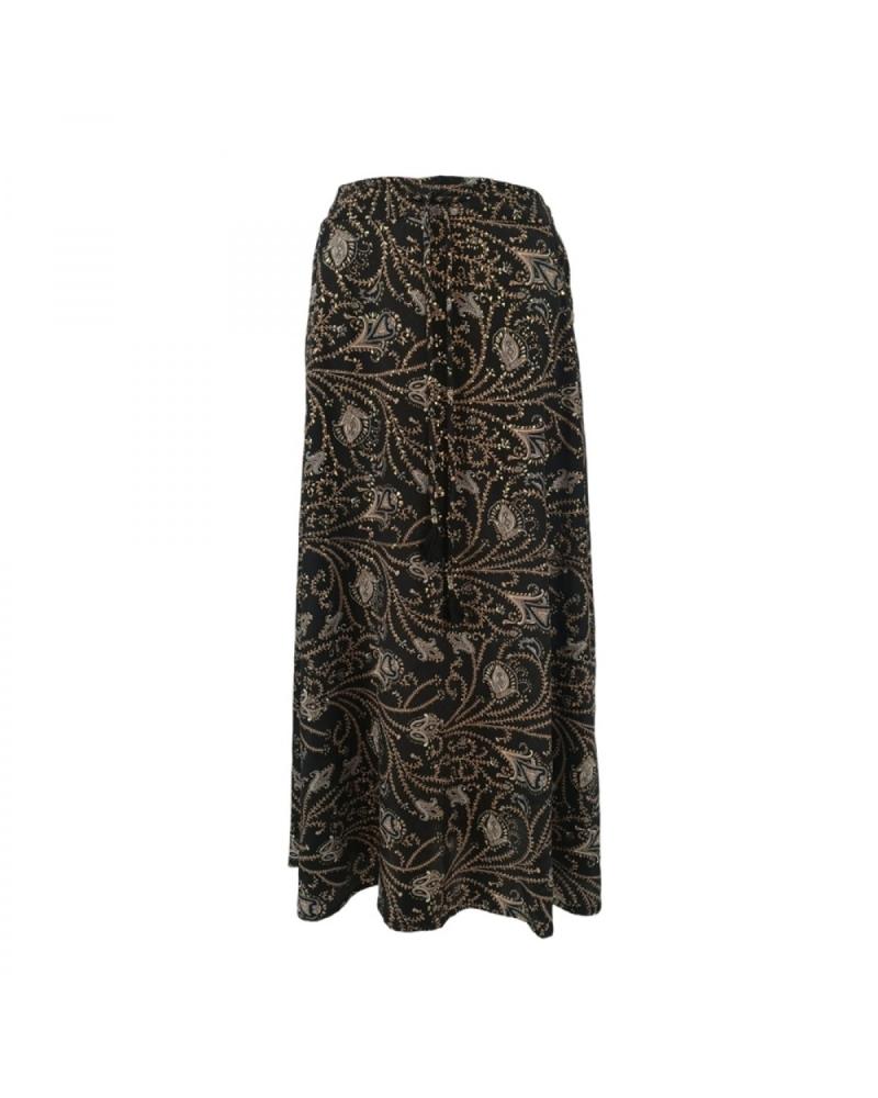 Luna bias skirt with pockets COCO BLACK