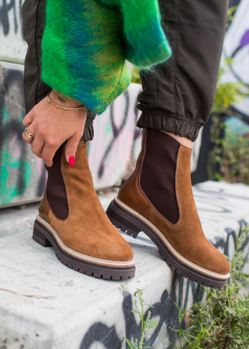 "Fall suede boot ""by Josefine Valentin"" COGNAC"
