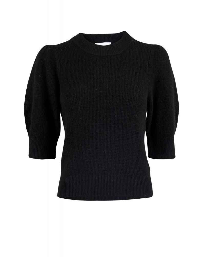 Abi stitch blouse BLACK