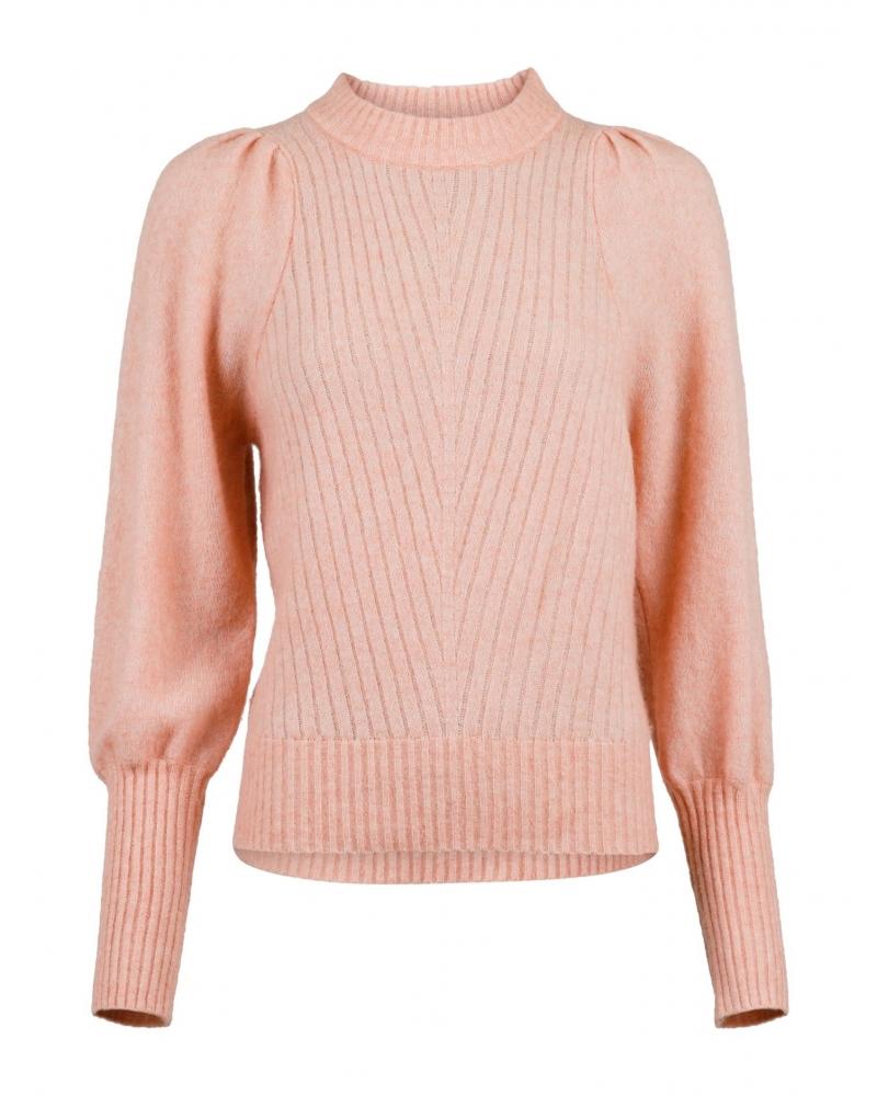 Kelsey knit blouse PEACH MELANGE
