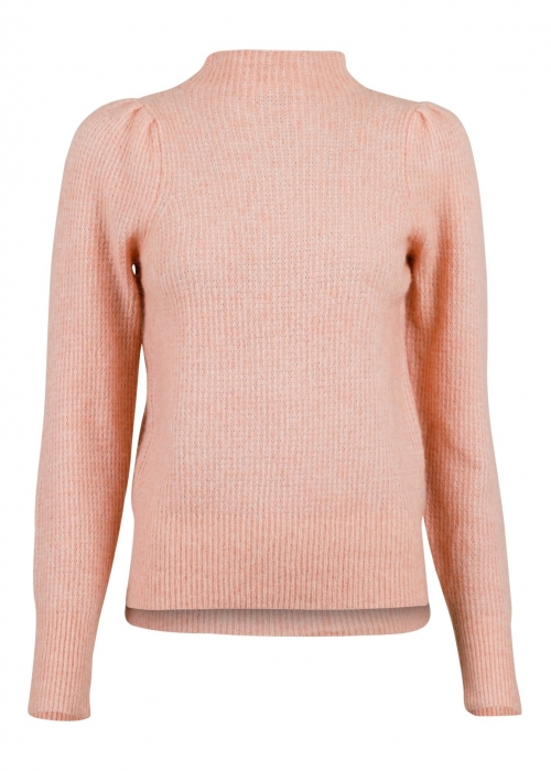 Marlia knit blouse PEACH MELANGE