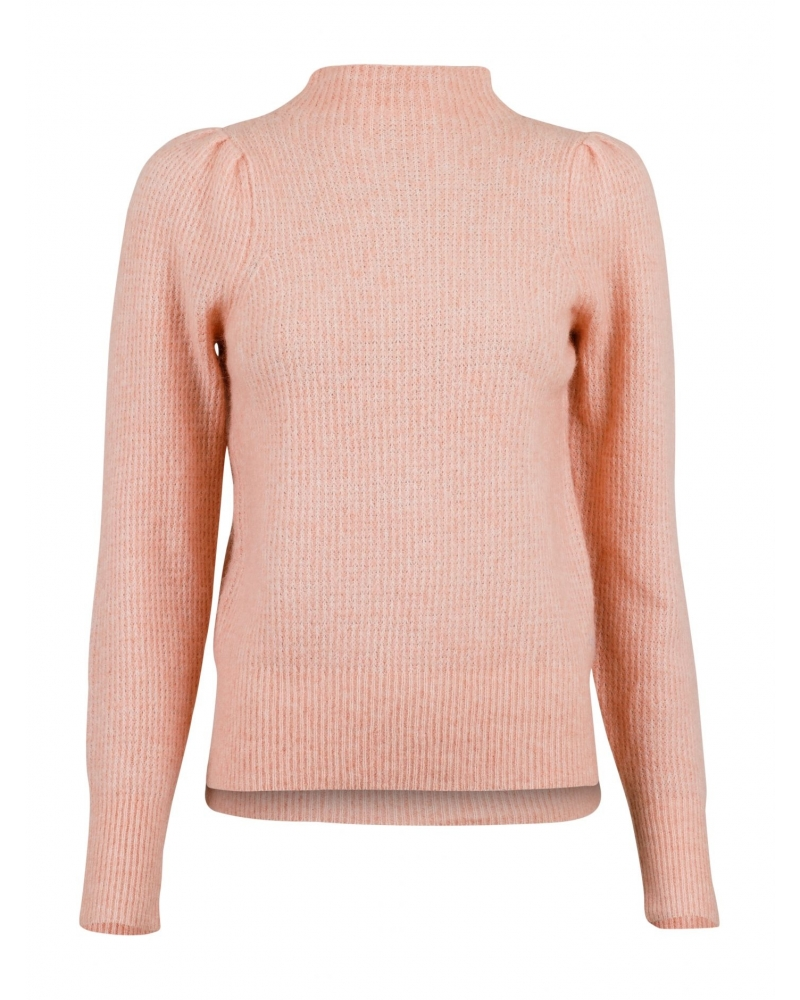 Marlia knit blouse PEACH MELANGE