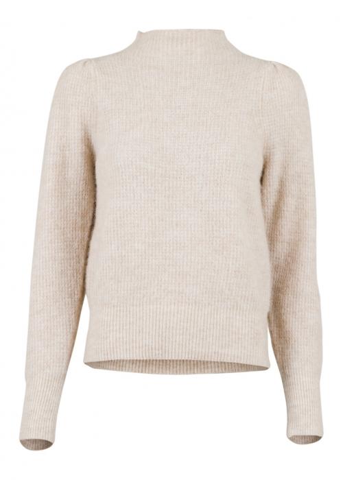 Marlia knit blouse SAND MELANGE