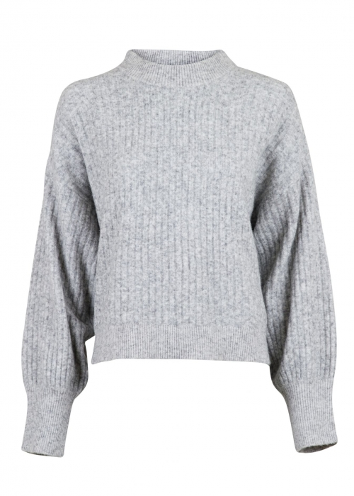 Condor knit blouse LIGHT GREY MELANGE