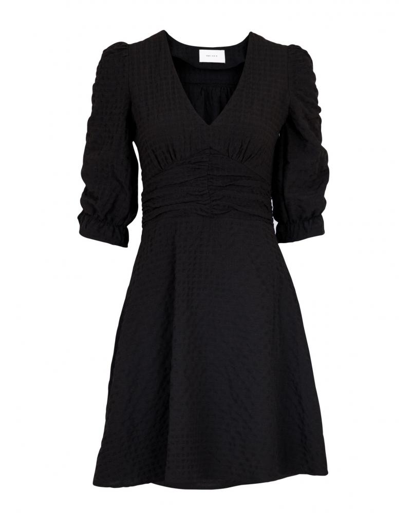Milou structure dress BLACK