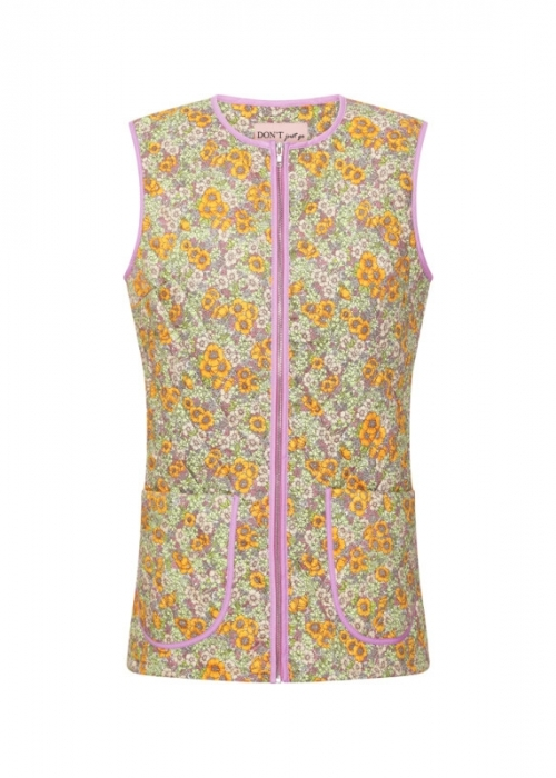 Nellie vest YELLOW FLORAL