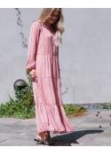 Nobis ethnic stripe dress ROSE