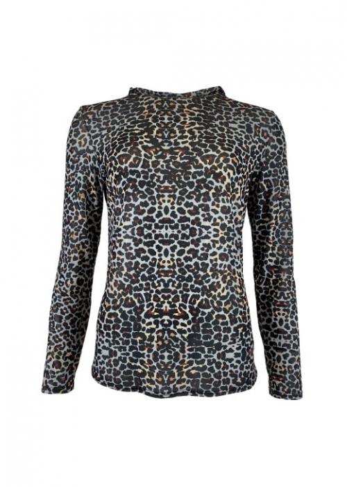 Annie mesh blouse GREY LEO