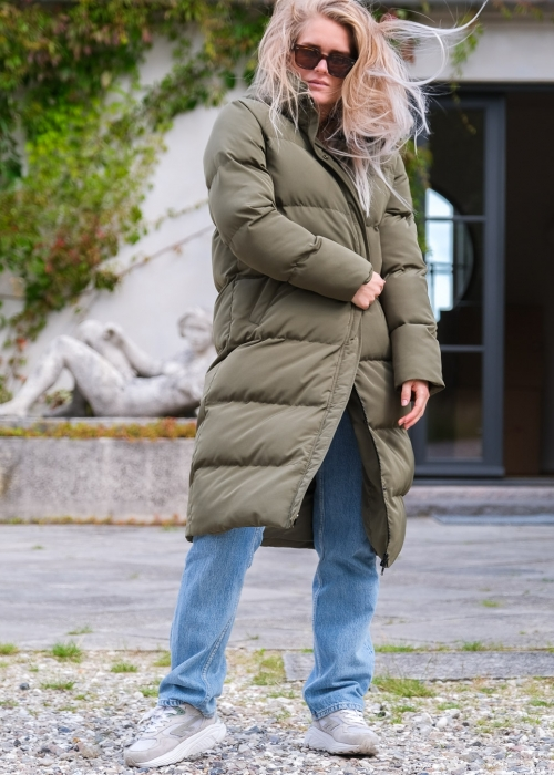 New Dustin Long Jacket DUSTY ARMY (PREORDER LEVERING 10. DECEMBER)