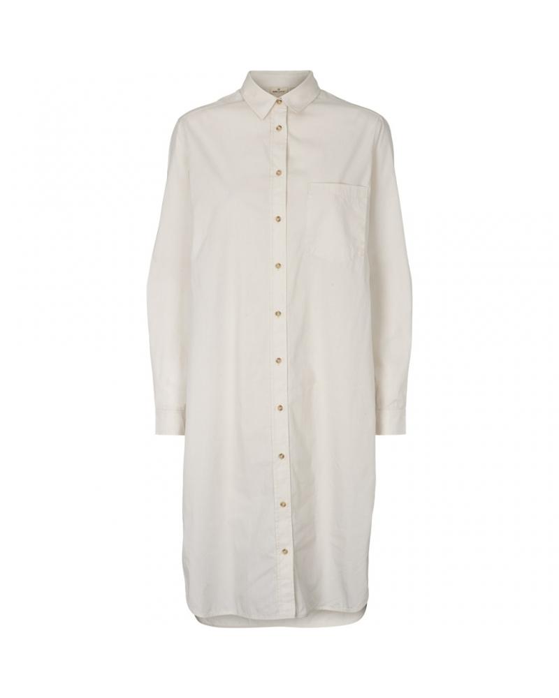 Vilde shirt dress CHALK