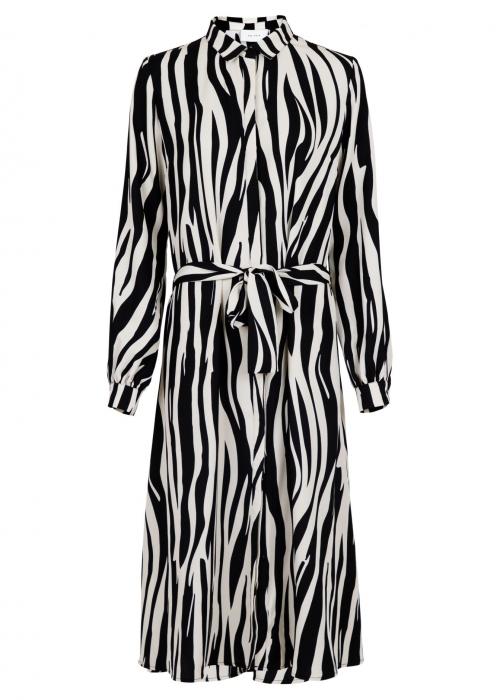 Bristol mega zebra dress BLACK