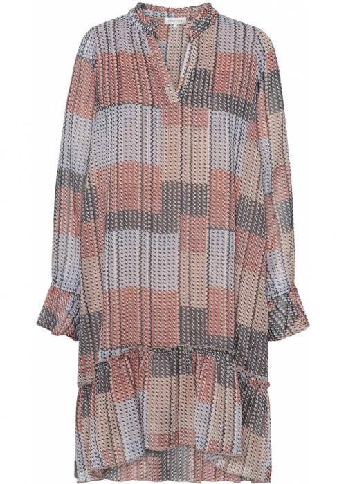 Thyra long sleeve dress SQUARE PRINT
