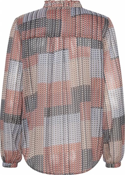 Agnes blouse SQUARE PRINT