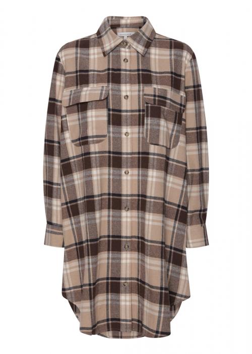 Gila long shirt BROWN CHECK