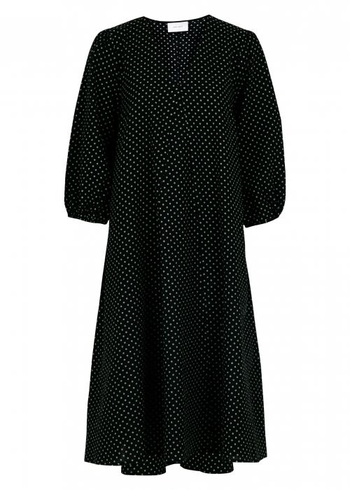 Tasia dot dress GREEN