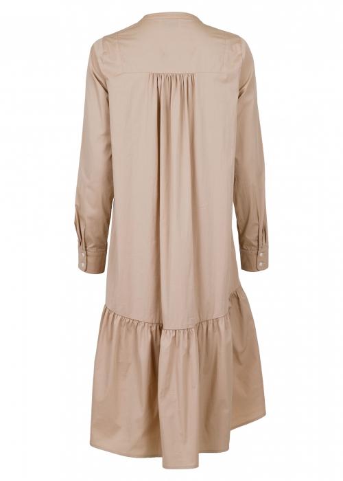 Sylvia poplin dress CAMEL