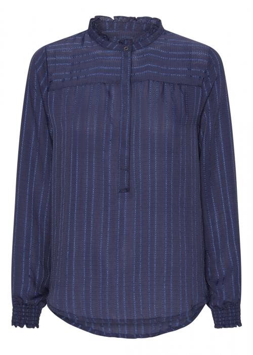Asta jacquard stripe blouse ELECTRIC BLUE