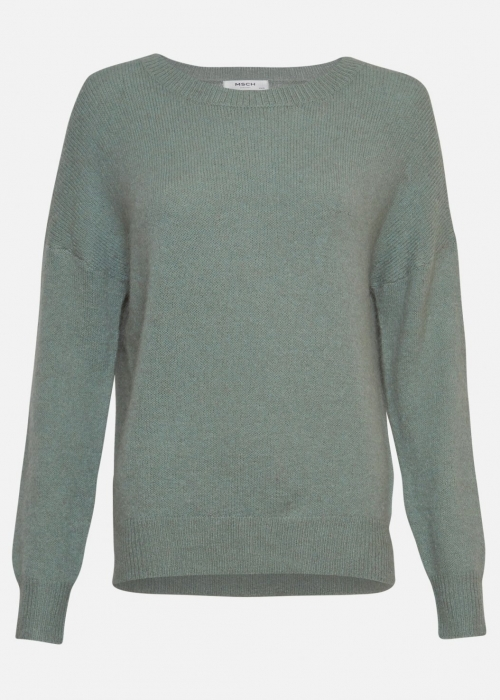 Femme mohair O pullover CHINOIS GREEN