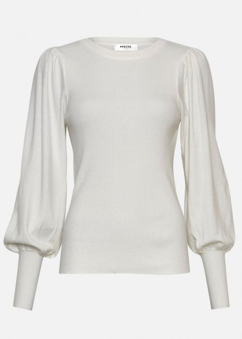 Mallory Like L/S pullover EGRET